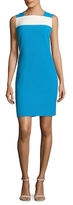 Anne Klein Colorblock Crepe Sheath Dress