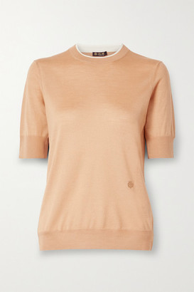Loro Piana Cashmere And Silk-blend Sweater - Sand