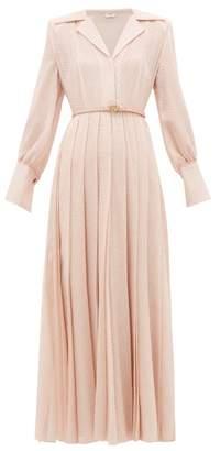 Fendi Gloria Fil-coupe Silk-blend Shirtdress - Womens - Pink