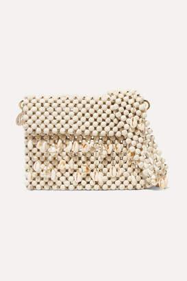 Rosantica Idra Shell-embellished Beaded Shoulder Bag - Beige