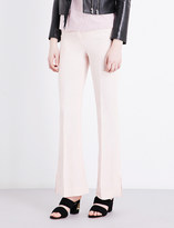 Sandro Flared high-rise woven trousers
