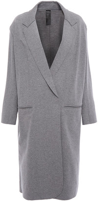 Norma Kamali French Cotton-blend Terry Coat