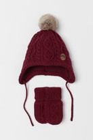 H&M Hat and Mittens - Red