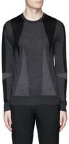 Neil Barrett 'Abstract Modernist' intarsia Merino wool sweater
