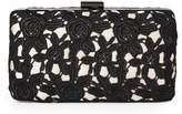 Jessica McClintock Black & Champagne Noelle Lace Clutch