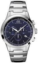 88 Rue du Rhone 87WA154305 Men's Rive Chronograph Bracelet Strap Watch, Silver/Blue