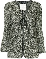 Chanel Pre Owned 1994 flocked tied cardigan