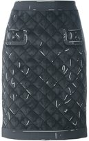 Moschino trompe l'oeil print skirt - women - Polyester/Rayon/Triacetate - 46