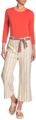Johnny Was Lola Stripe Belted Pants