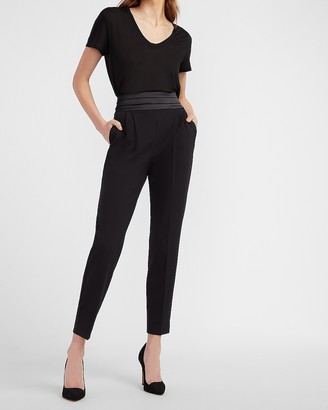 Express High Waisted Supersoft Cummerbund Waist Ankle Pant