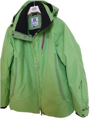 Salomon Green Polyester Coats