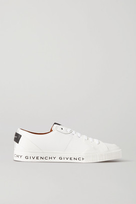 Givenchy Logo-print Leather And Rubber Sneakers - White