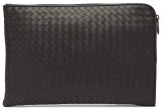 Bottega Veneta Intrecciato Leather Document Holder - Mens - Brown