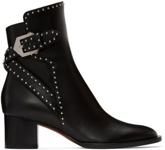 Givenchy Black Stud Elegant Heel Ankle Boots