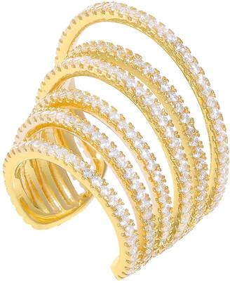 Adina's Jewels Large Pave Ear Cuff