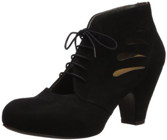 Coclico Women's Fitzgerald Cutout Lace Up Mid Heel Pump