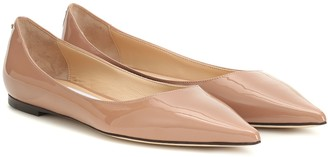Jimmy Choo Love patent-leather ballet flats