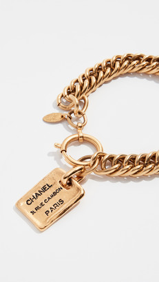 What Goes Around Comes Around Chanel Gold Cambon Plate Bracelet