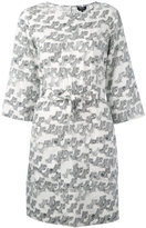 A.P.C. printed belt dress - women - Silk - 36