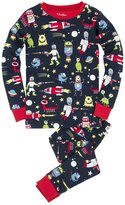 Hatley Youth Boy's Space Alien Pajama Set