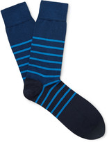 John Smedley - Dionysus Striped Sea Island Cotton-blend Socks