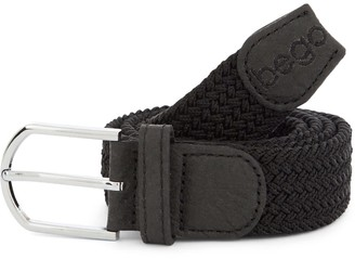 Bego Vegan Label Belt Charcoal - Stretch