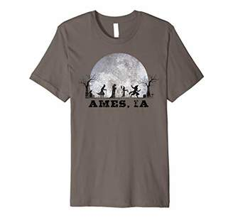 Vintage Halloween Full Moon in Ames IA Retro Premium T-Shirt
