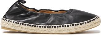 Castaner Kobu Suede-trimmed Leather Espadrille Flats
