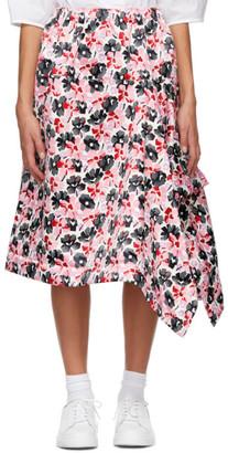 Comme des Garcons Pink Satin Print Skirt