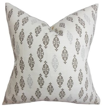 The Pillow Collection Ziven Geometric Throw Pillow Cover Color: Gray