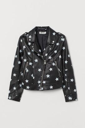 H&M Patterned Biker Jacket