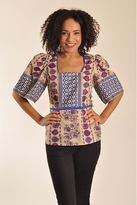 Plenty by Tracy Reese Square Neck Blouse In Floral Stripes