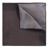 Hugo Boss Pocket sq. cm 33x 33 Italian Silk Patterned Pocket Square One Size Brown