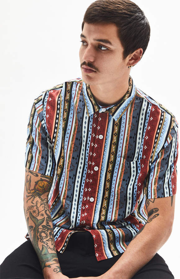 89bc6bbb Short Sleeve Shirt Stand Up Collar Men - ShopStyle Canada