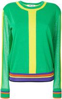 Diane von Furstenberg striped crew neck sweater - women - Cotton/Nylon - S