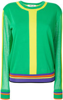 Dvf Diane Von Furstenberg striped crew neck sweater