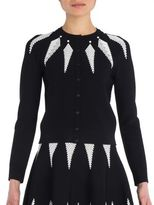 Alexander McQueen Two-Tone Knit Cardigan