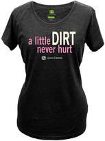 John Deere Black 'A Little Dirt' Short-Sleeve Tee - Plus Too