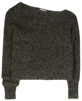 Alexander Wang Cotton And Mohair-blend Asymmetrical Sweater