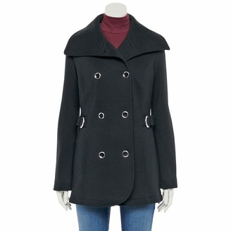 Details Women's Envelope Collar Double-Breasted Jacket