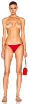 ADRIANA DEGREAS for FWRD Hand On Bikini Set in Red.