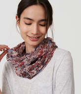LOFT Painterly Floral Infinity Scarf