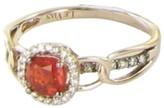 LeVian Le Vian 14K Rose Gold Diamond Neon Tangerine Opal Link Strawberry Ring Size 7
