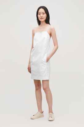 Cos Sleeveless Dress With Cord Straps