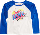 Epic Threads Hero Kids by Mix and Match Love Graphic-Print Raglan Shirt, Toddler Girls (2T-5T), Created for Macy's