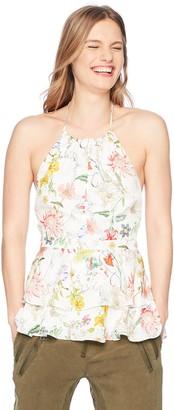 Parker Women's Dawson Sleeveless Low Back Tiered Silk Blouse
