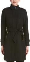 Cole Haan Twill Wool-Blend Coat