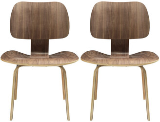 Modway Fathom Dining Chairs Wood Set
