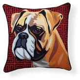 Pooch Decor Boxer Indoor/Outdoor Throw Pillow Naked Decor
