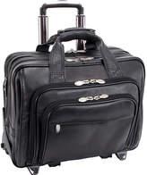 """McKlein McKleinUSA Gold Coast 17"""" Leather Detachable -Wheeled Laptop Briefcase"""
